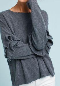 Ruffled pullover
